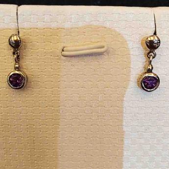 紫晶特色镶嵌耳钉80002902
