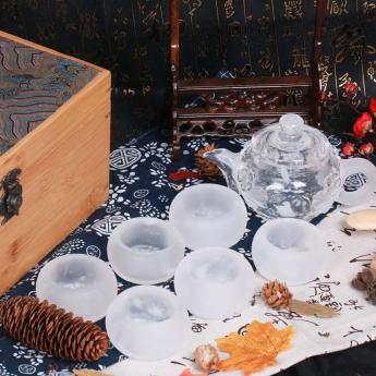 巴西(BRA)水晶矿提纯梅花茶具礼盒(1壶6厚砂杯#10)35102813