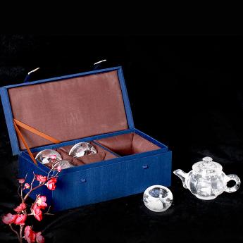 巴西(BRA)水晶矿提纯南瓜茶具礼盒(1壶4厚光杯#17)35102811