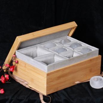 巴西(BRA)水晶矿提纯熊猫茶具礼盒(1壶6厚砂杯#22)(藏品)35102816