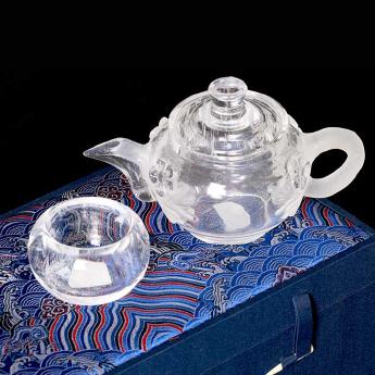 巴西(BRA)水晶矿提纯梅花茶具礼盒(1壶4厚光杯#17)35102810