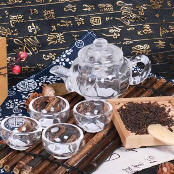 巴西(BRA)水晶矿提纯南瓜茶具礼盒(1壶4厚砂杯#8)35102815