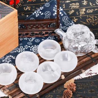 巴西(BRA)水晶矿提纯南瓜茶具礼盒(1壶6厚砂杯#10)35102814