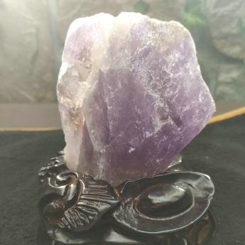 紫晶原矿石摆件(雕刻座)28000255