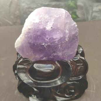 紫晶原矿石摆件(雕刻座)28000241