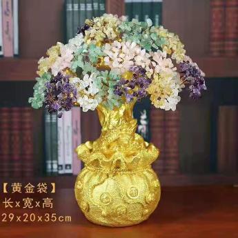 特大黄金钱袋发财树(多彩)94000551