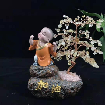 小沙弥佛系发财树(加油黄晶)94000570