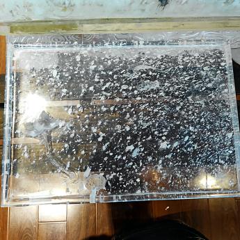 巴西(BRA)水晶矿提纯方形莲花茶盘35102393