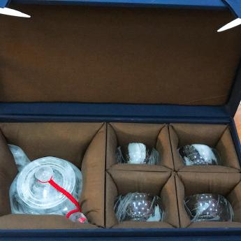 国产(CHN)水晶矿优化光身茶壶(1国产矿壶+4巴西矿厚内直杯)礼盒#1735103159