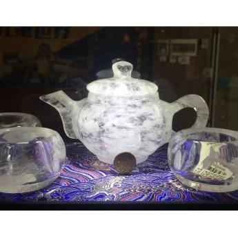 国产(CHN)水晶矿优化南瓜茶壶(1壶4厚内直杯礼盒#17)35103154