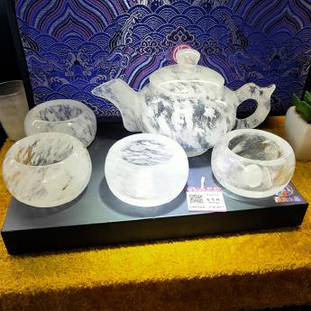 国产(CHN)水晶矿优化光身茶壶(1壶4厚内直杯礼盒#17) 35205001