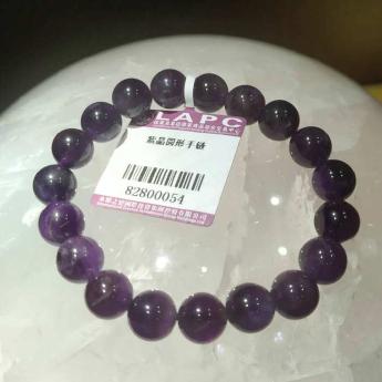 紫晶圆形手链82800054