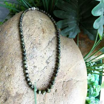 猫眼绿碧玺大细珠圆形项链 89001142
