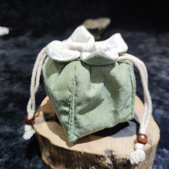绿色棉布茶具便携包 85100167