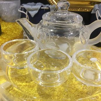 巴西(BRA)水晶矿提纯梅花茶具礼盒(1壶6薄杯#10)35102874