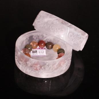 巴西(BRA)水晶矿提纯雕花月光宝盒(中)35204553