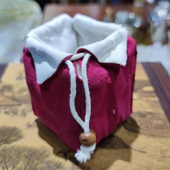 红色棉布茶具便携包 85100179