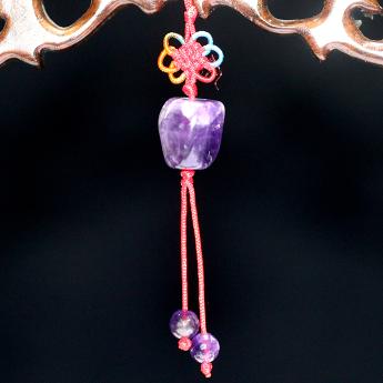 紫晶石头形挂饰 18600197
