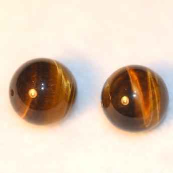 黄虎晶圆形散珠 18600173 (单颗)