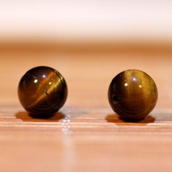 黄虎晶圆形散珠 18600169 (单颗)