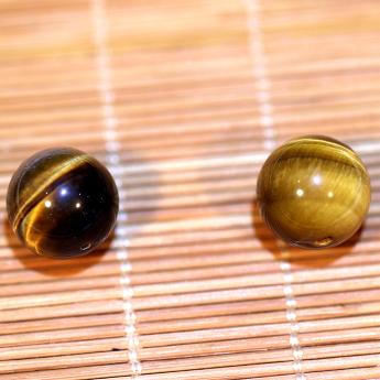 黄虎晶圆形散珠 18600172 (单颗)