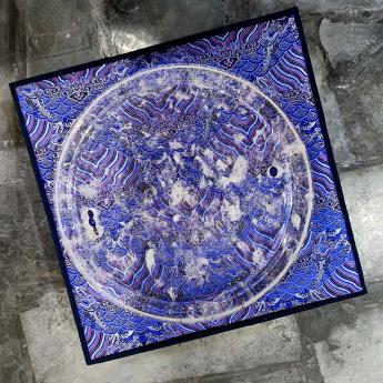 巴西(BRA)水晶矿提纯去痔原石板(圆)礼盒#2835103019