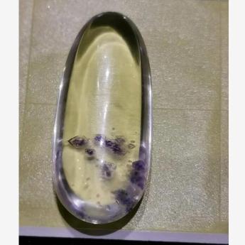 白晶紫花旦形挂坠(共生花) 91001148