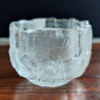 巴西(BRA)水晶矿提纯冰烧荷叶边杯35102629